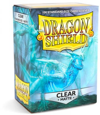 DRAGON SHIELD MATTE CLEAR 100-CT