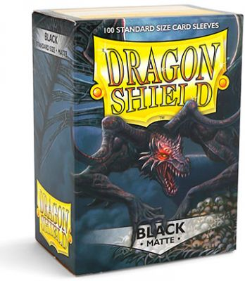 DRAGON SHIELD MATTE BLACK 100-CT