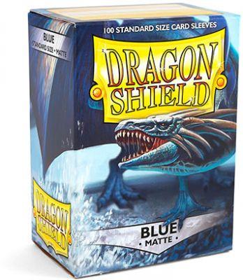 DRAGON SHIELD MATTE BLUE 100-CT