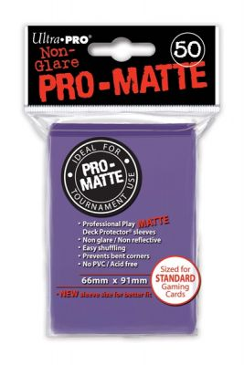 PURPLE PRO-MATTE DECK PROT.50-CT