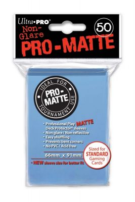 LIGHT BLUE PRO-MATTE DECK PROT.50CT
