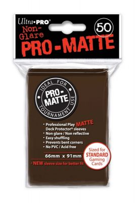 BROWN PRO-MATTE DECK PROT.50-CT