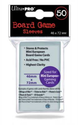 BOARDGAME MINI EURO SLEEVES 50-CT