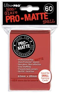 RED SMALL PRO MATTE DECK PROTECTOR 60-CT