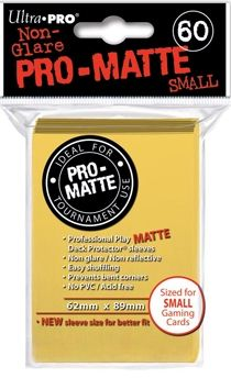 YELLOW SMALL PRO ΜΑΤΤΕ DECK PROTECTOR 60-CT