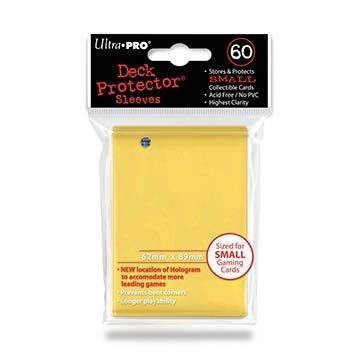 YELLOW YGO DECK PROTECTOR 60-CT