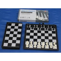 MAGNETIC MIDDLE SIZE CHESS & CHECKER