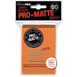 ORANGE SMALL PRO MATTE DECK PROTECTOR 60-CT