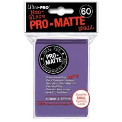 PURPLE SMALL PRO MATTE DECK PROTECTOR 60-CT