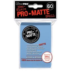 LIGHT BLUE SMALL PRO MATTE DECK PROT. 60-CT