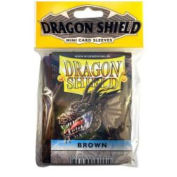 DRAGON SHIELD SMALL BROWN 50-CT
