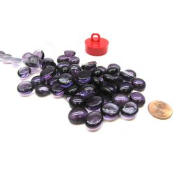 VIOLET GLASS STONES(40) 4 TUBE