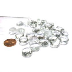 "Clear Glass Stones in 4"" Tube (Qty 40)"
