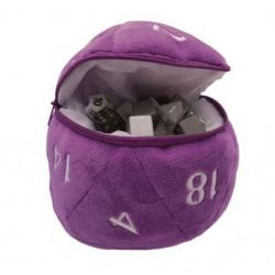 Purple D20 Plush Dice Bag