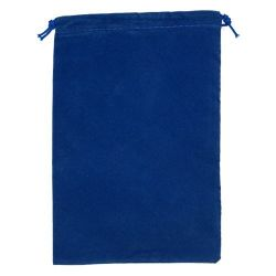 Large Royal Blue Suedecloth Dice Bags