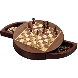 Philos Field 25 mm Poplar Wood Case Chess Set