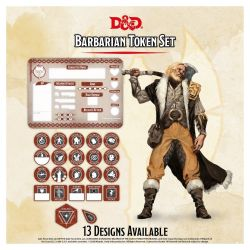 DD5 Barbarian Token Set (Player Board & 22 tokens)