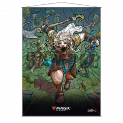 MAGIC AJANI STAINED GLASS WALL SCROLL