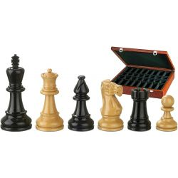 NERO, KH95MM CHESS PIECES BLACK/NATURAL