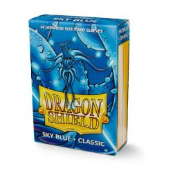 DRAGON SHIELD SMALL SIZE SKY BLUE SLEEVES 60CT