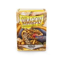 DRAGON SHIELD MATTE GOLD 100-CT