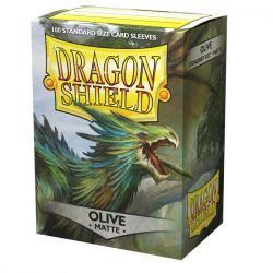 Dragon Shield Matte Olive Sleeves 100ct