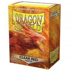 DRAGON SHIELD MATTE CLEAR RED SLEEVES 100-CT