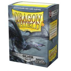 DRAGON SHIELD NON-GLARE MATTE SILVER SLEEVES