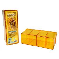 DRAGON SHIELD YELLOW 4-COMPARTMENT BOX