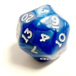 Pearlescent D30 Blue/White Loose Dice