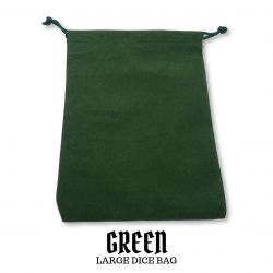 Large Green Suedecloth Dice Bags