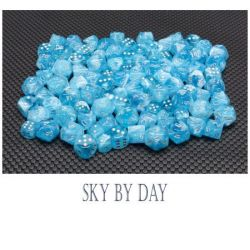 LUMINARY SKY/SILVER 7-DICE SET