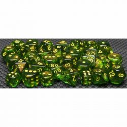 BOREALIS MAPLE GREEN/YELLOW 7-DICE SET