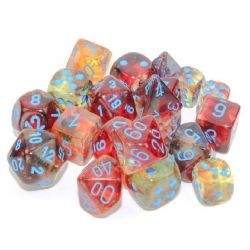 Nebula Luminary Primary/Blue Polyhedral 7-Die Set