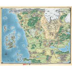 DD5 Faerun Realm and Sword Coast Map (68.5 x 81 cm)
