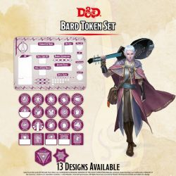 DD5 Bard Token Set (Player Board & 22 tokens)
