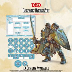 DD5 Paladin Token Set (Player Board & 27 tokens)