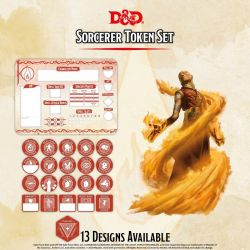 DD5 Sorcerer Token Set (Player Board & 22 tokens)
