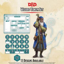 DD5 Wizard Token Set (Player Board & 22 tokens)