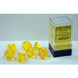 TRANSLUCENT POLYHEDRAL YELLOW/WHITE 7 SET
