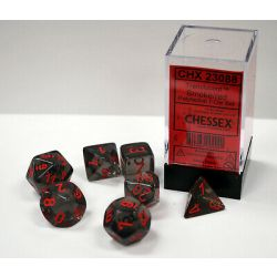 TRANSLUCENT POLYHEDRAL SMOKE/RED 7 SET