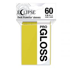 Eclipse Gloss Small Size Lemon Yellow Deck Protector 60ct