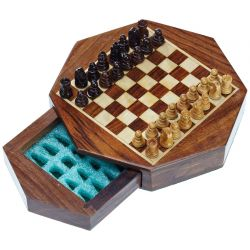 TRAVEL CHESS SET OCTAGON MINI MAGNETIC