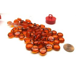 ORANGE GLASS STONES (40) 4 TUBE