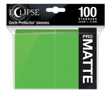 Eclipse Lime Green Matte Deck Protector 100ct