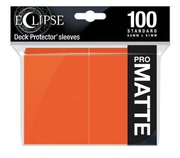 Eclipse Pumpkin Orange Matte Deck Protector 100ct