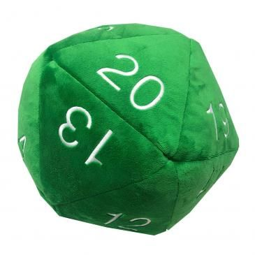 JUMBO D20 GREEN PLUSH DICE