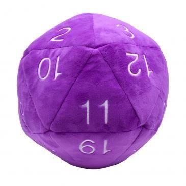 Purple Jumbo Plush D20
