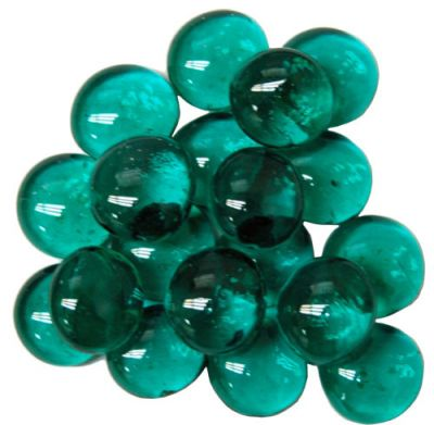 "Crystal Teal Glass Stones in 4"" Tube (Qty 40)"