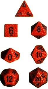 SPECKLED FIRE 7-DIE SET